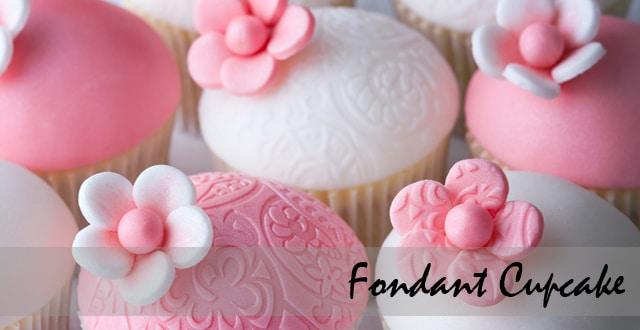 สอนทำคัพเค้ก ญี่ปุ่น Fondant Cupcake เรียนทำคัพเค้ก