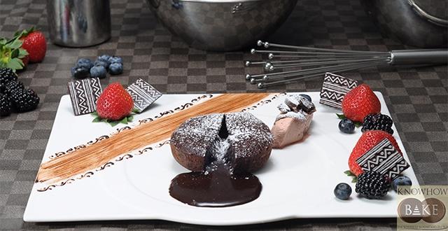 เรียนทำช็อกโกแลตลาวาเค้ก